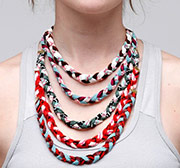 Thief&Bandit Braided Handpainted Necklace