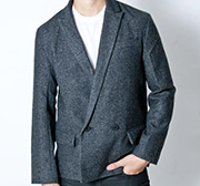 Grey Static Peak Lapel Blazer by Oak