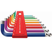PB Swiss Color Hex & Ball Wrench Set