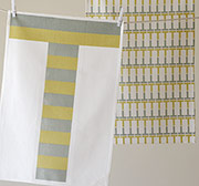 Studiopatro Stripe Tea Towel Set of 2 in grey and gold