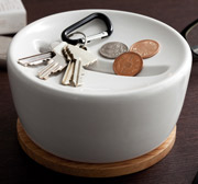 Ceramic and Wood Coin Storage